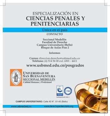 Especialización En Ciencias penales y Penitenciarias